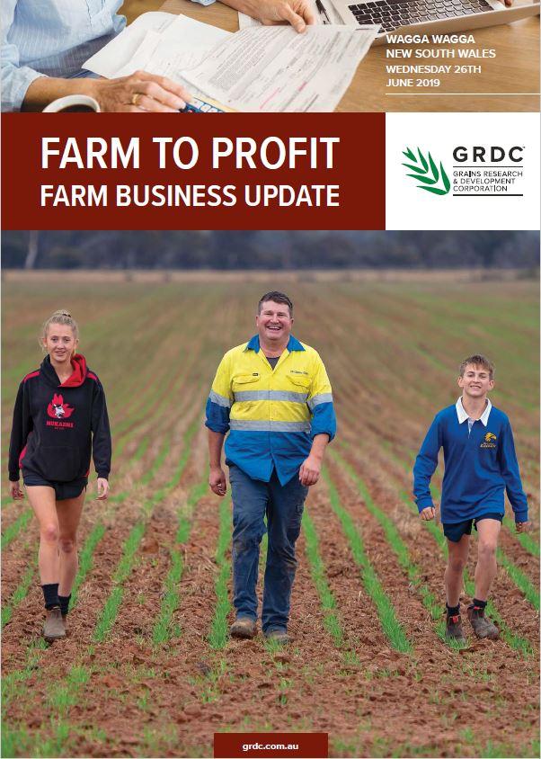 2019 Wagga Wagga GRDC Farm Business Update cover