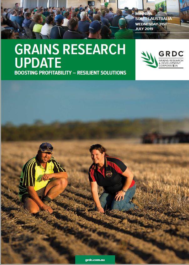 2019 Minnipa GRDC Grains Research Update cover