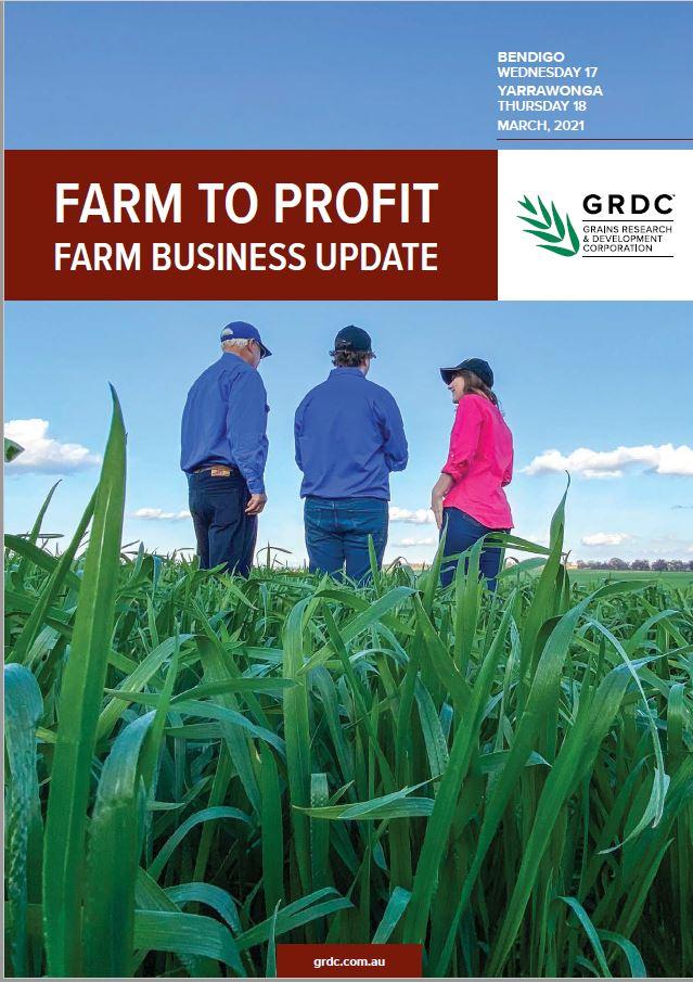 2021 Bendigo and Yarrawonga GRDC Farm Business Update proceedings