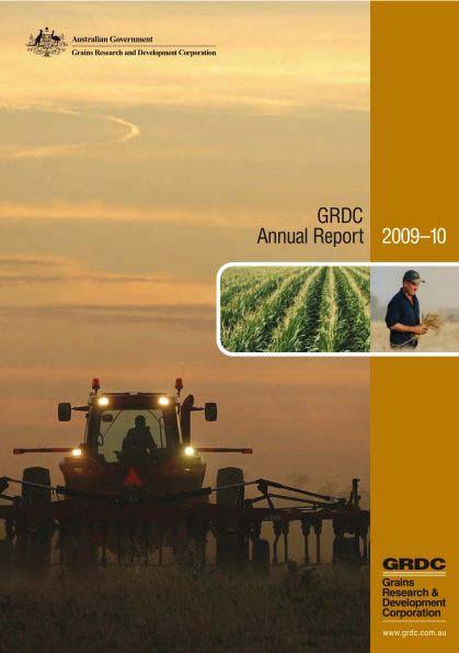 GRDC Annual Report 2009-10 cover
