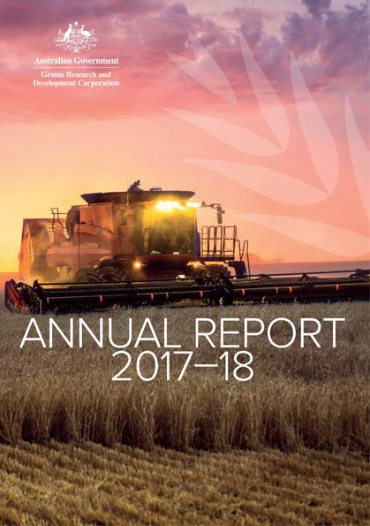 GRDC Annual Report 2017-18 cover