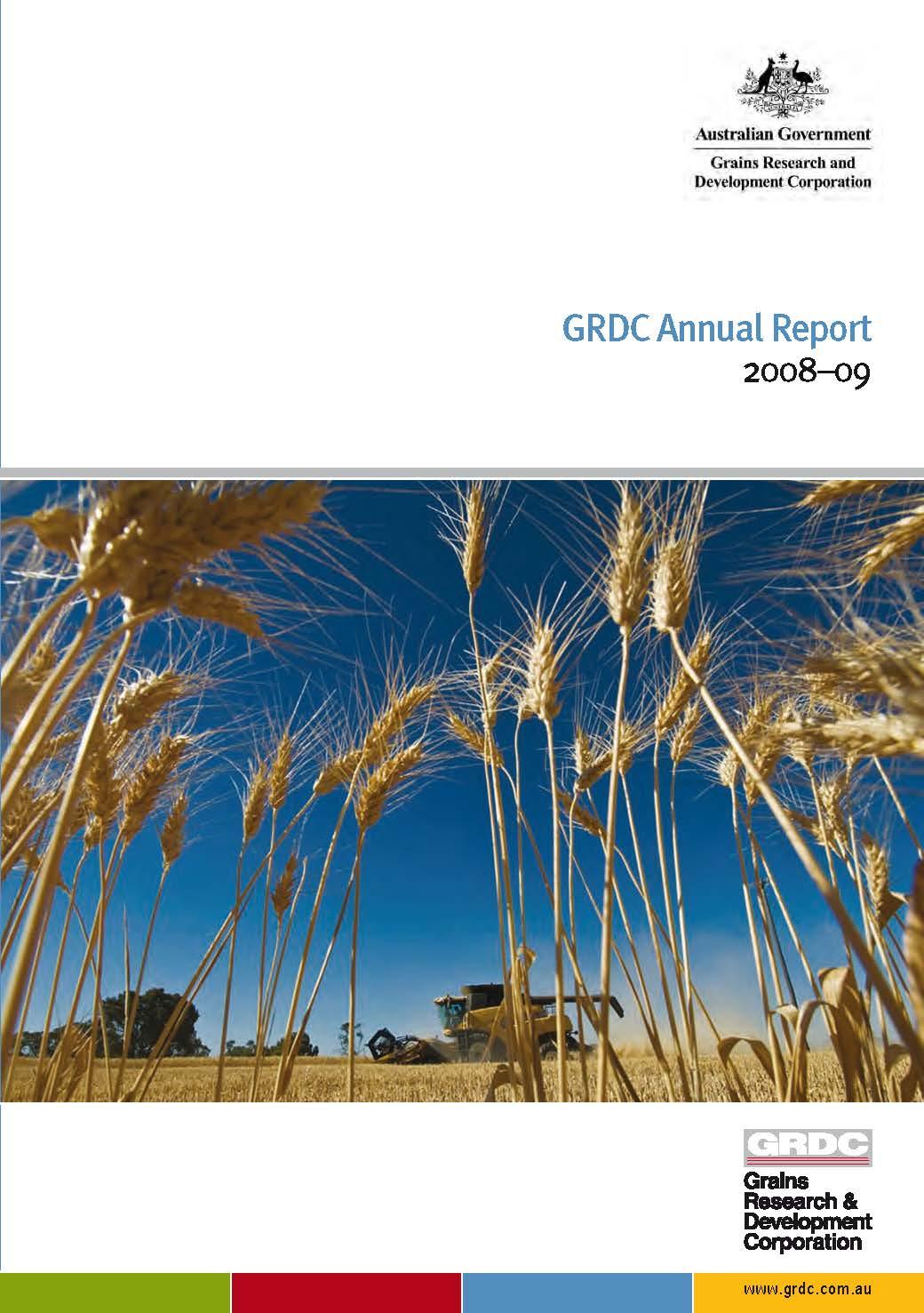 GRDC Annual Report 2008-09 cover
