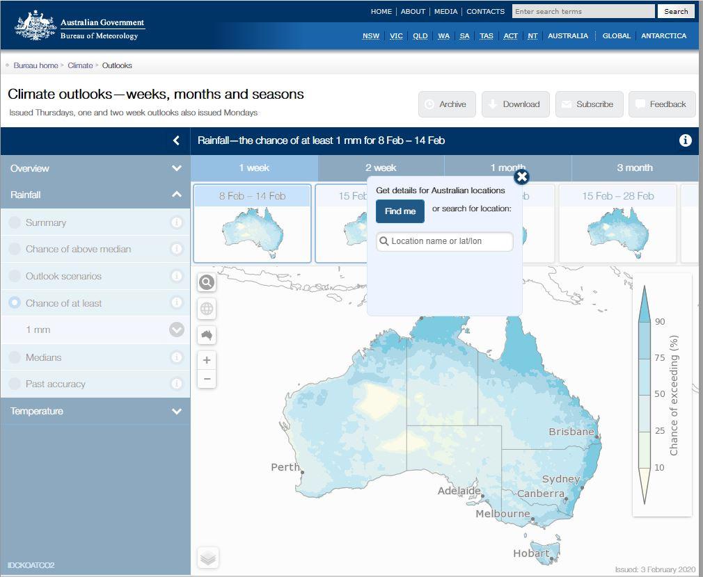 image of rainfall outlook maps