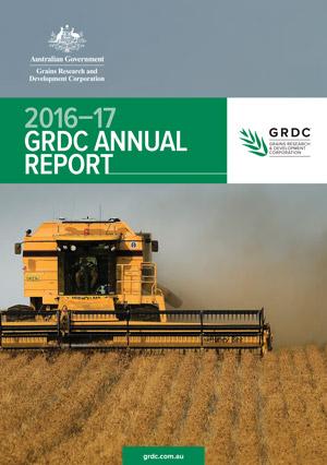 GRDC Annual Report 2016-17 cover