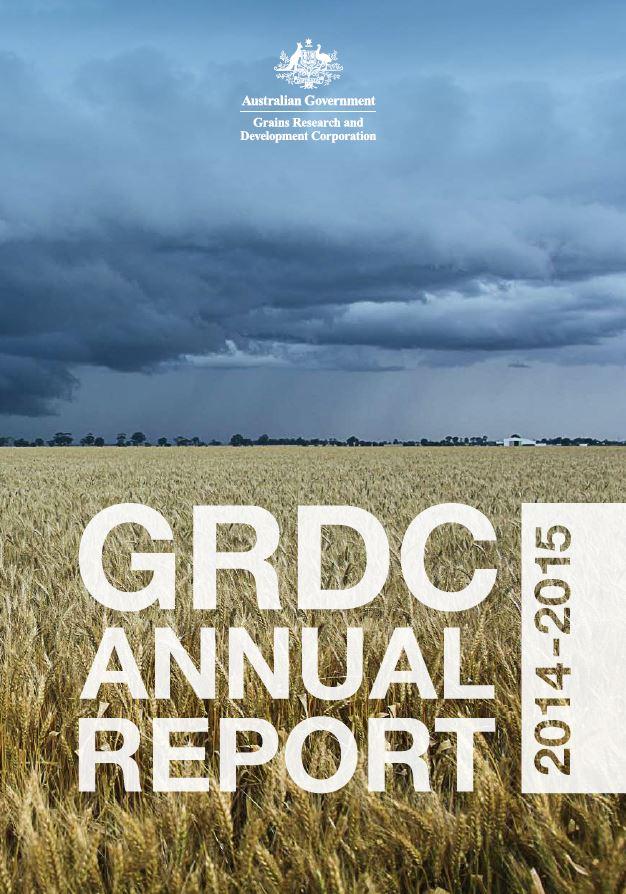 GRDC Annual Report 2014-15 cover