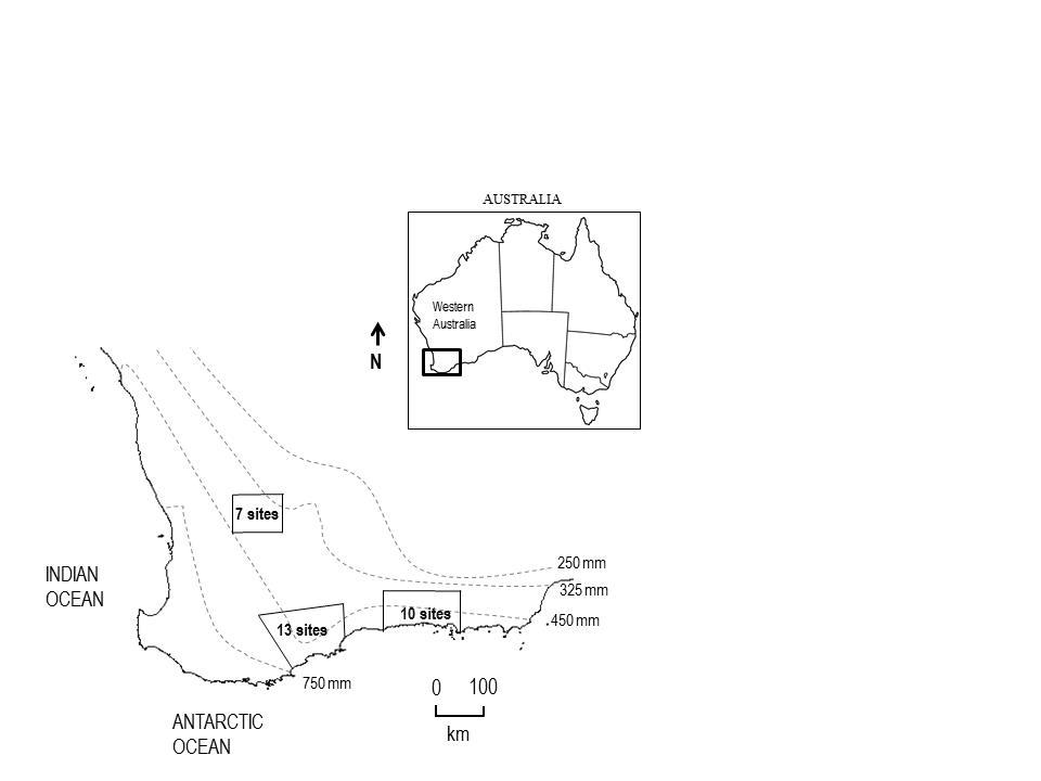 3 trap sites South Western Australia