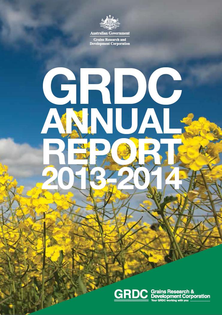 GRDC Annual Report 2013-14 cover