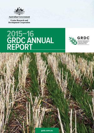 GRDC Annual Report 2015-16 cover
