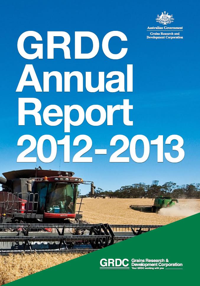 GRDC Annual Report 2012-13 cover