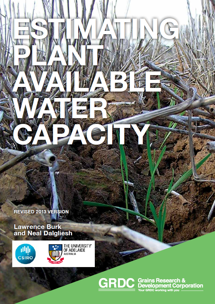 Cover of Estimating Plant Available Water Capacity (revised 2013)
