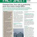 Grain market access and chemical residues