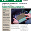 Using production zones to develop a soil testing strategy