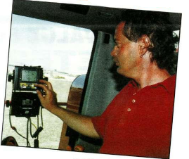 Richard Barrett yield mapping during the 1995-96 harvest
