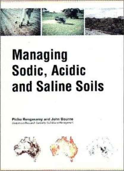 """Cover of the book: """"Managing Sodic, Acidic and Saline Soils"""""""
