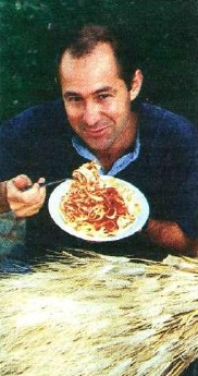 Newly-appointed durum expert Alfredo Impiglia enjoys a bowl of pasta made from WA-grown durum wheat which he expects to become a major crop in the next three years.
