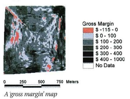A 'gross margin' map