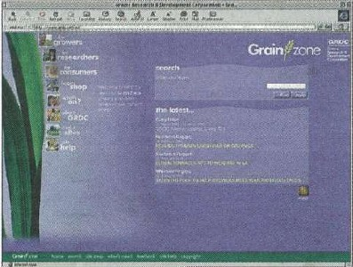 Front screen from Grainzone web site