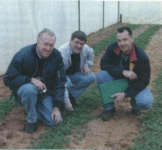 Part of the NAPLIP team: (left to right) Brian Dear NSW Agriculture, Phil Nichols Agriculture WA and Graeme Sandral NSW Agriculture.