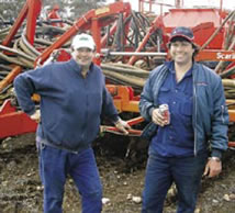 Swan Reach growers Adrian and Colin Stoeckel