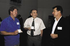 Photo - left to right - Mark Branson, Bernard Coquil and Vic Dobos