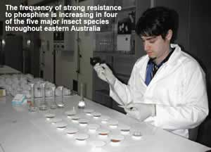 Photo of Phillip Taylor carrying out laboratory testing