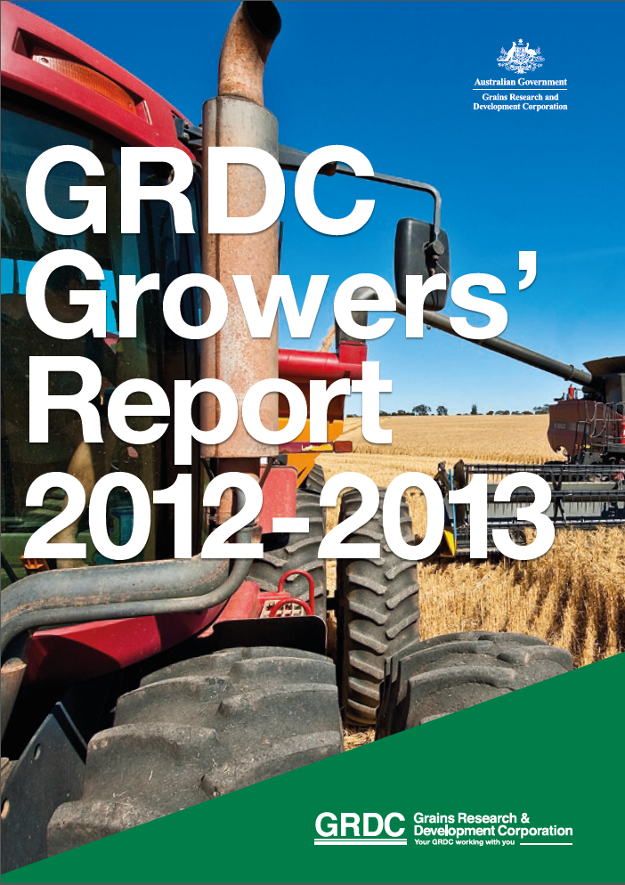 GRDC Growers' Report 2012-13 (Cover page)