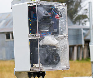 Remote camera setup on a farm