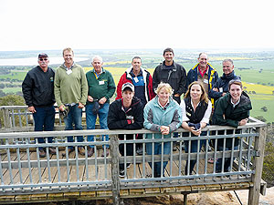 Members of Grower Group Alliance Study Tour standing on viewing platform.