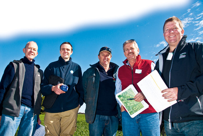 Five members of the GRDC Southern Panel standing outside