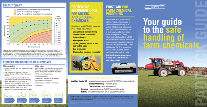 Image of the SEPWA Paddock guide, Your guide to the safe handling of farm chemicals
