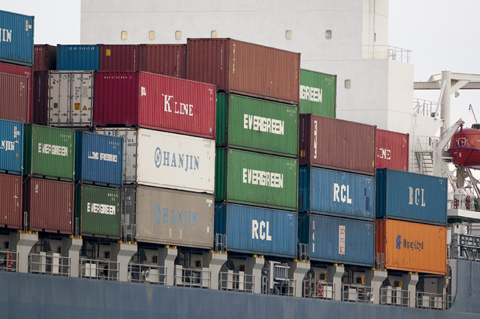 Photo of a stack of containers
