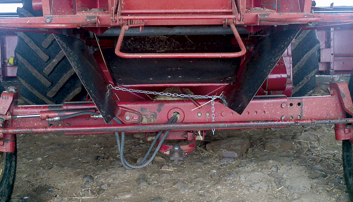 Photo of a modified header