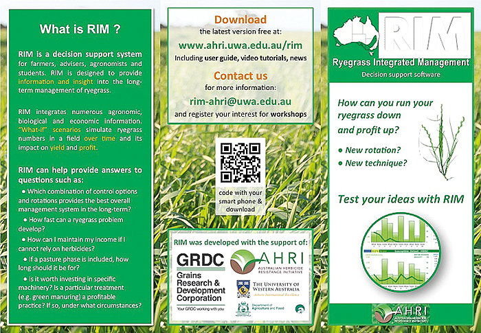 Image of a Ryegrass Integrated Management flyer