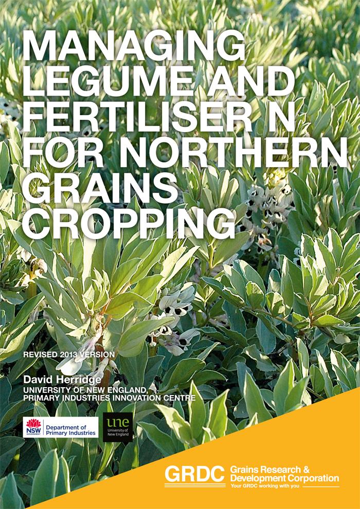 Image of the GRDC's Managing legume and fertiliser for northern grains cropping research report