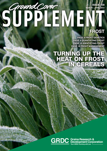 Cover of the Frost Ground Cover Supplement, issue 109