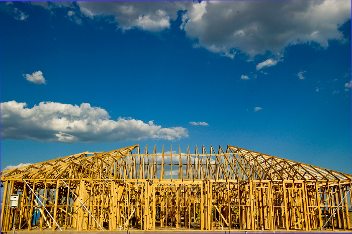 Photo of building frame