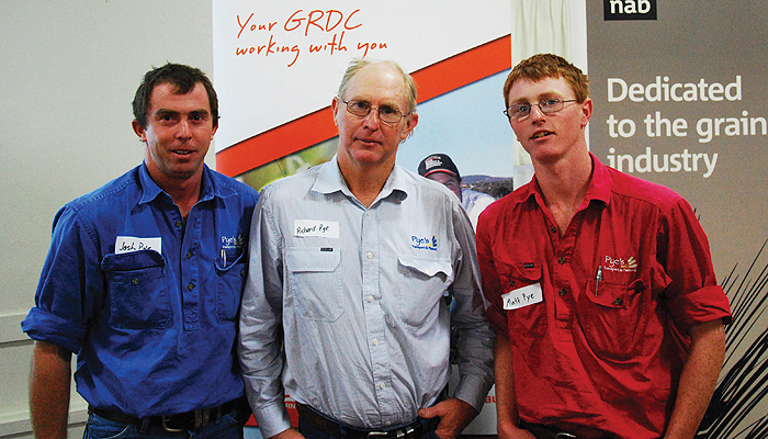 Image of grower Richard Pye and his sons