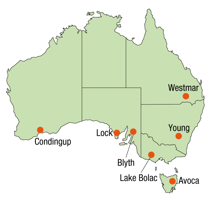 Australian map graphic
