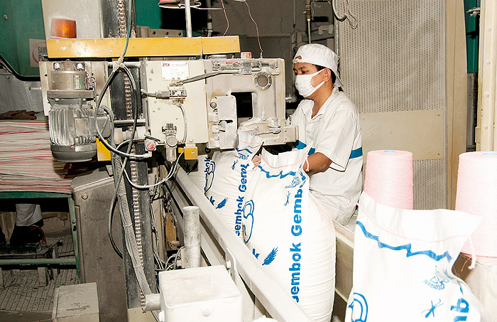 Image of a man in a food processing factory