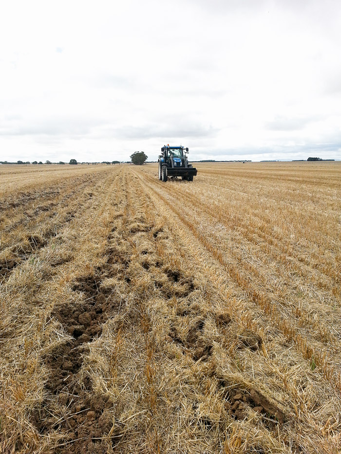 Image showing a Subsoiler in action