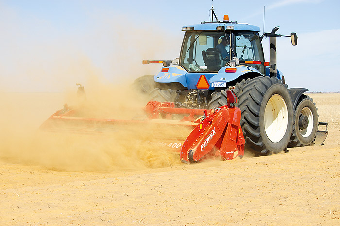 Image of a tractor applying lime