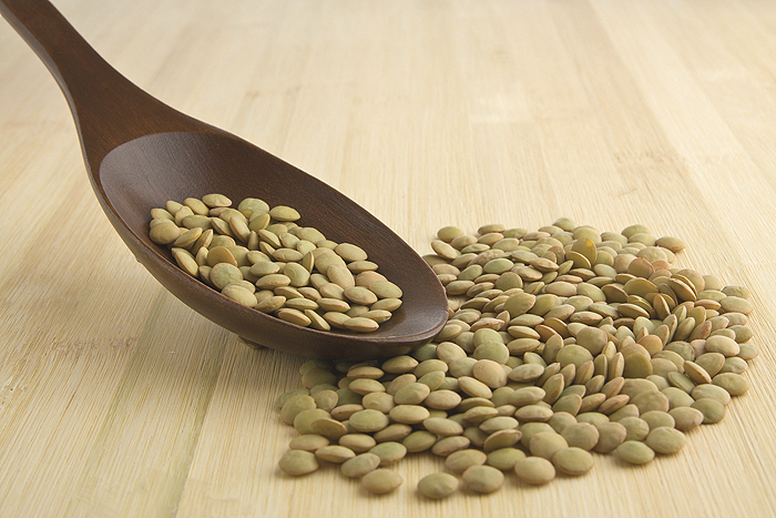 Photo of spoon and lentils