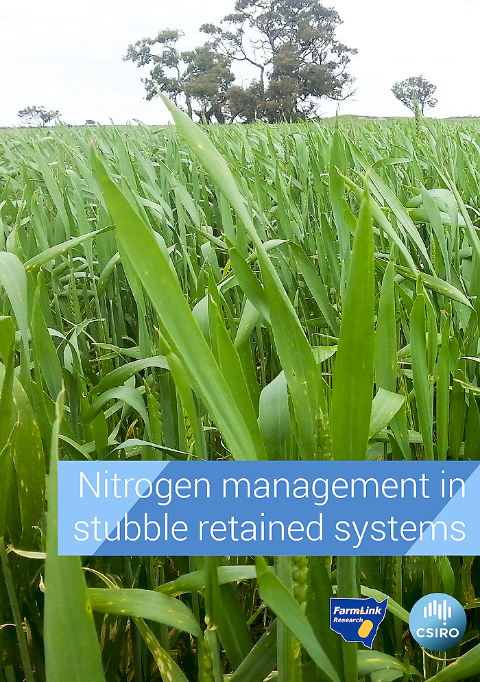 Cover of Nitrogen Management in stubble retained systems booklet
