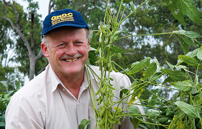 Image of a man holding beans