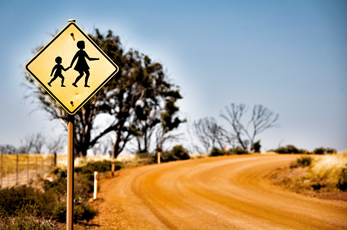 Image of a school crossing sign