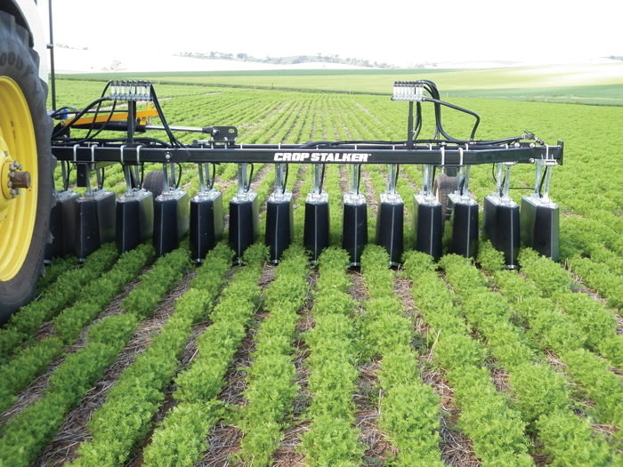 Shielded herbicide sprayers