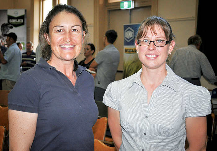 Photo of Fiona Hilll (left) and Lauren Philp