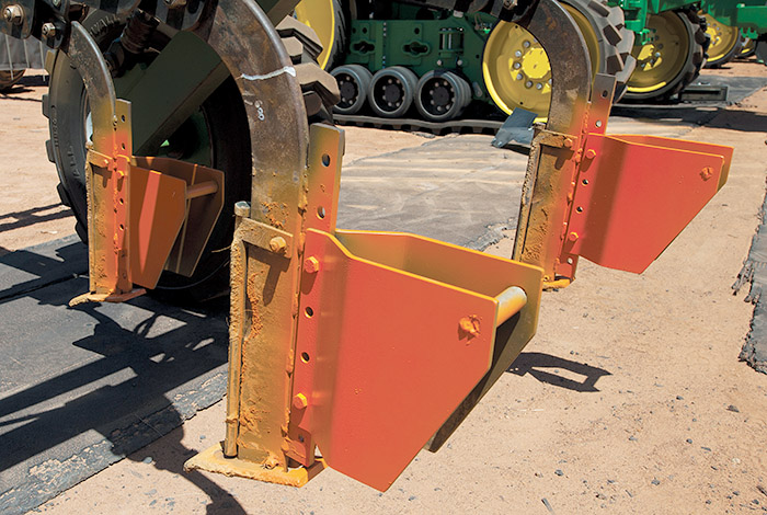 Image of steel inclusion plates fitted to a ripper