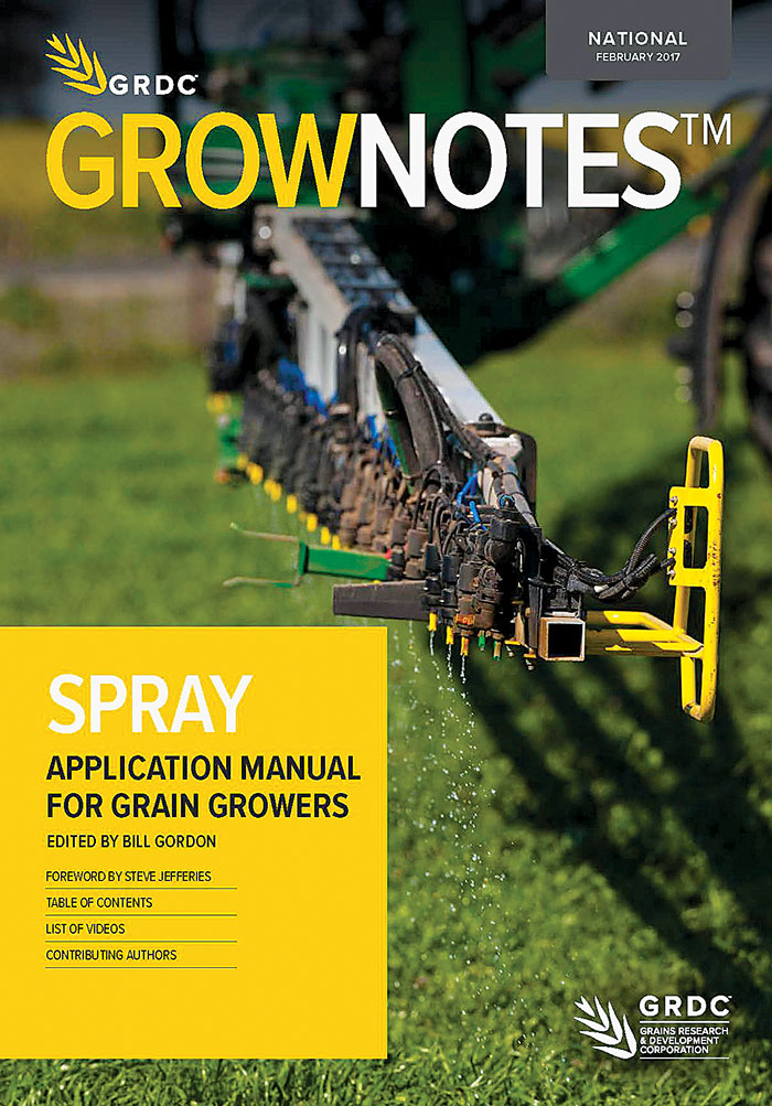 Cover of Spray Application GrowNotes manual