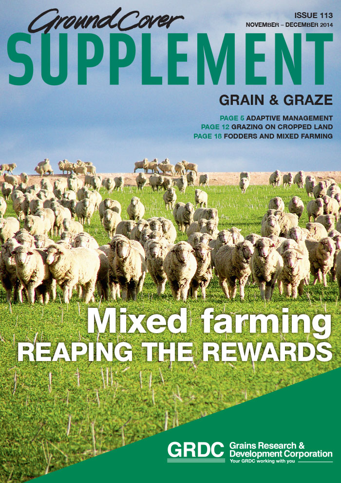Cover page of Ground Cover Supplement 113: Grain & Graze - Mixed farming, reaping the rewards